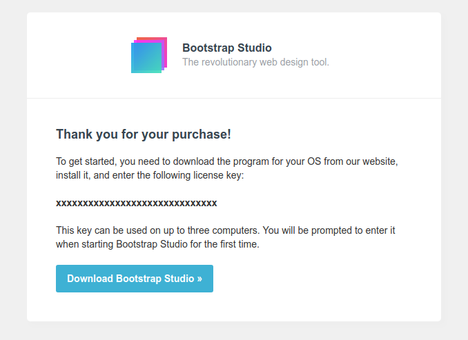 bootstrap studio 4 license key