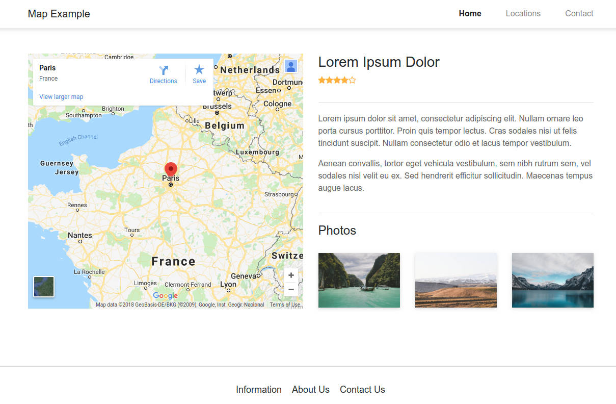 How to Use Google Maps in Bootstrap Studio Google Search Directions Maps on