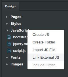 Linking external JS files